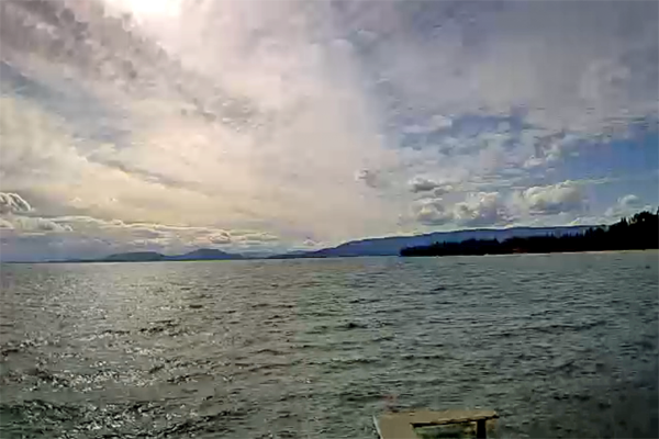 Webcam of Flathead Lake at the Raven in Woods Bay, Montana